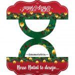 Pacotinho de balas para Natal Vermelho e Verde