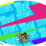 Placa Elipse Jovens Titans