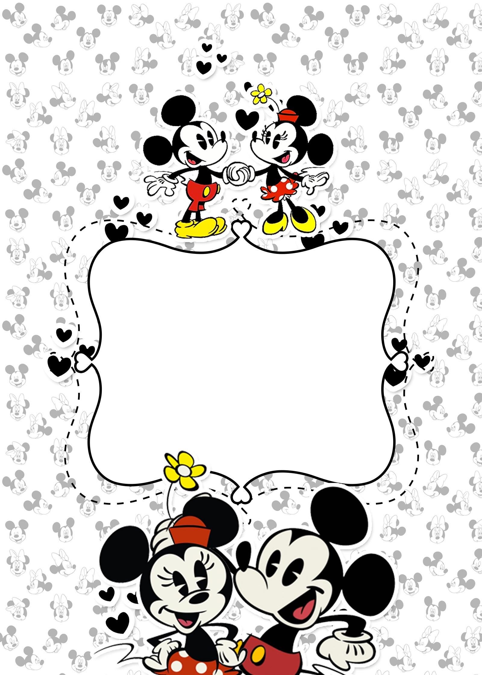 Planner para Professores Tema Mickey e Minnie Contra Capa