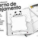 Planner para Professores Tema Panda Grátis para Imprimir