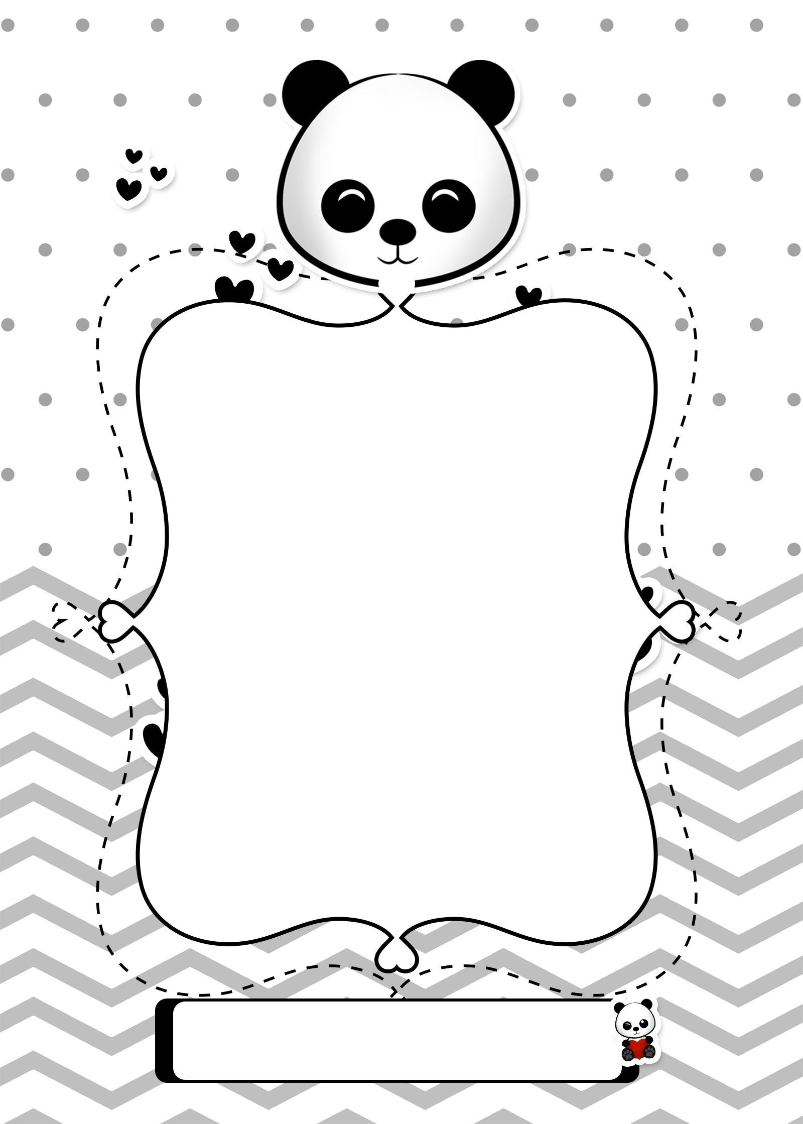 Planner para Professores Tema Panda Capa Caderno Planejamento