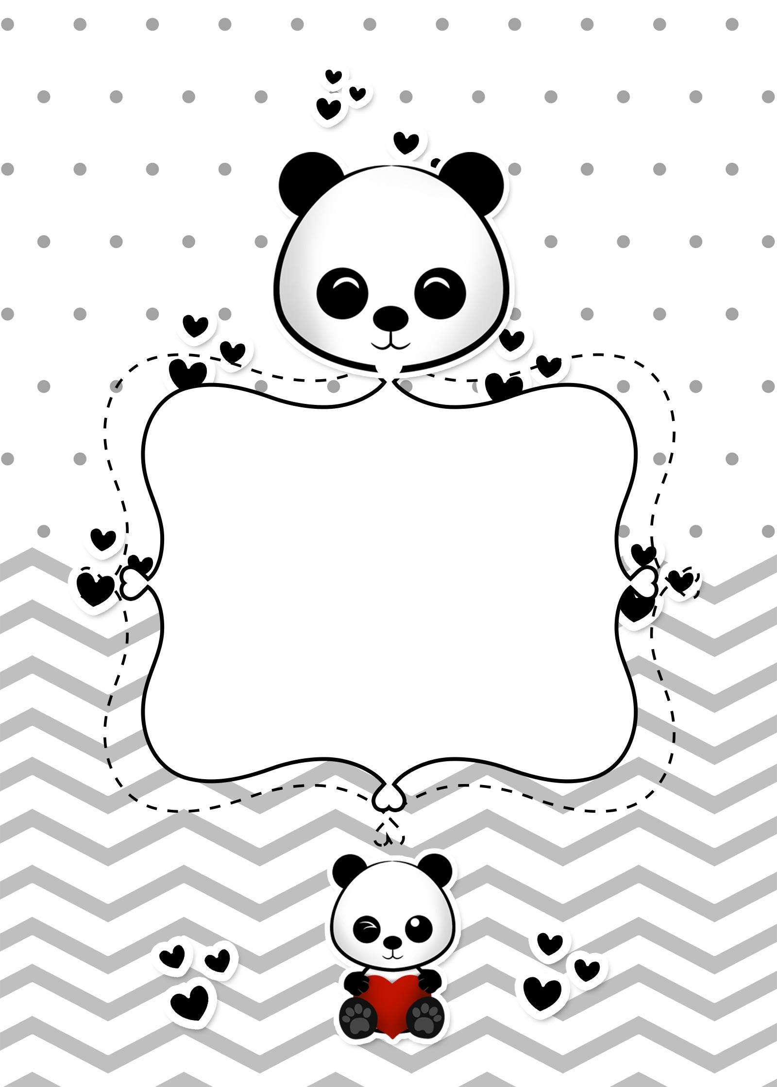 Planner para Professores Tema Panda Contra Capa