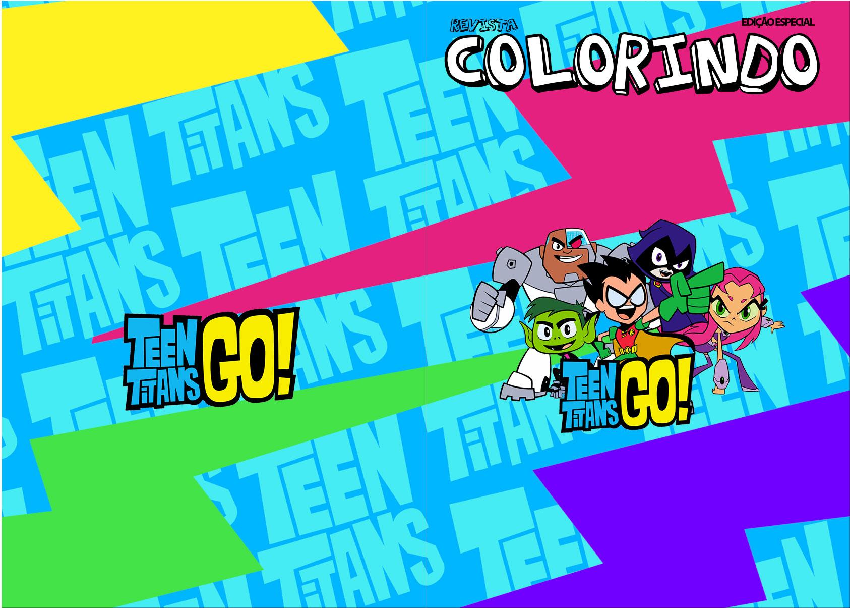 Revista Colorindo Jovens Titans