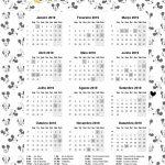 Calendario 2019 caderno planejamento para professora mickey e minnie 2