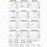 Calendario 2021 Mickey e Minnie