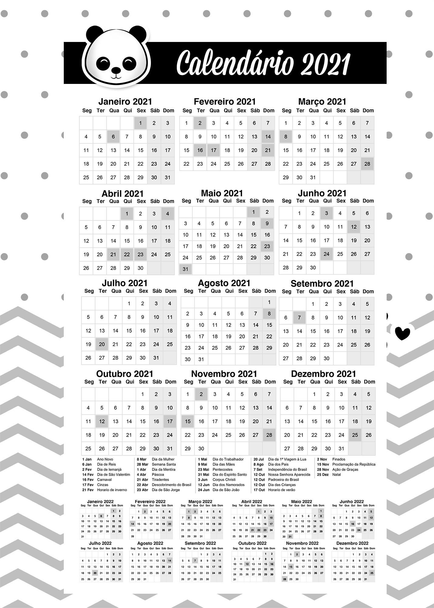 Calendario Professor Panda 2021