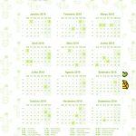 calendario 2019 cactos caderno de planejamento para imprimir