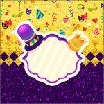 Adesivo Acrilico Quadrado Carnaval Kit Festa