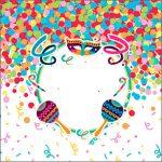 Adesivo Acrilico Quadrado Festa Carnaval Infantil