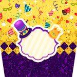 Balde de Pipoca Carnaval Kit Festa