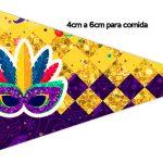 Bandeirinha Sanduiche 1 Carnaval Kit Festa