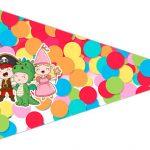Bandeirinha Sanduiche 2 Festa Carnaval Infantil