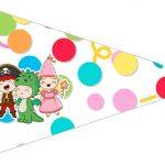 Bandeirinha Sanduiche 3 Festa Carnaval Infantil