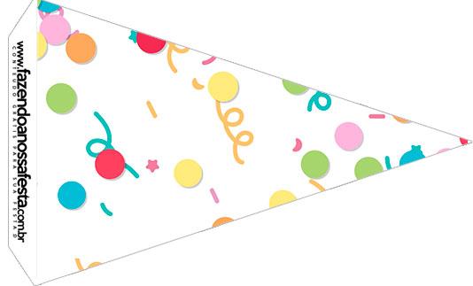 Bandeirinha Sanduiche 4 Festa Carnaval Infantil