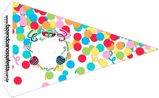 Bandeirinha Sanduiche 5 Festa Carnaval Infantil