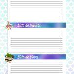 Caderno de Planejamento para Professores tema Sereia Lista de Filmes Musicas Livros