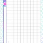 Caderno de Planejamento para Professores tema Sereia Tabela em Branco