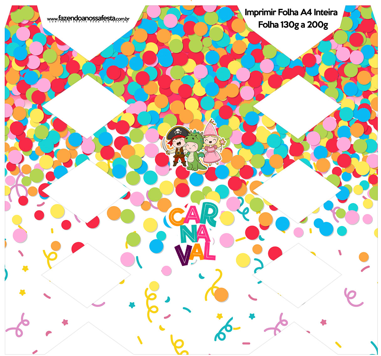 Caixa Bala Festa Carnaval Infantil