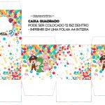 Caixa Cubo ou Bis Festa Carnaval Infantil
