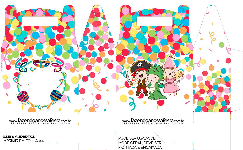 Caixa bombom Festa Carnaval Infantil