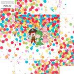 Caixa bombom Fundo Festa Carnaval Infantil