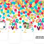 Caixa de leite Festa Carnaval Infantil