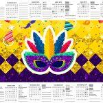 Calendario 2017 Carnaval