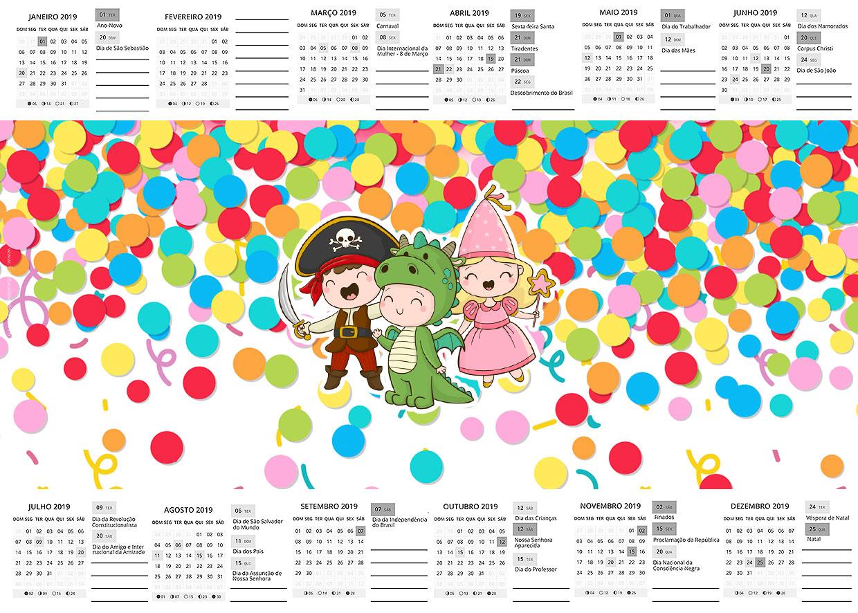 Calendario 2017 Festa Carnaval Infantil