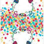 Cartao Agradecimento de mesa Festa Carnaval Infantil