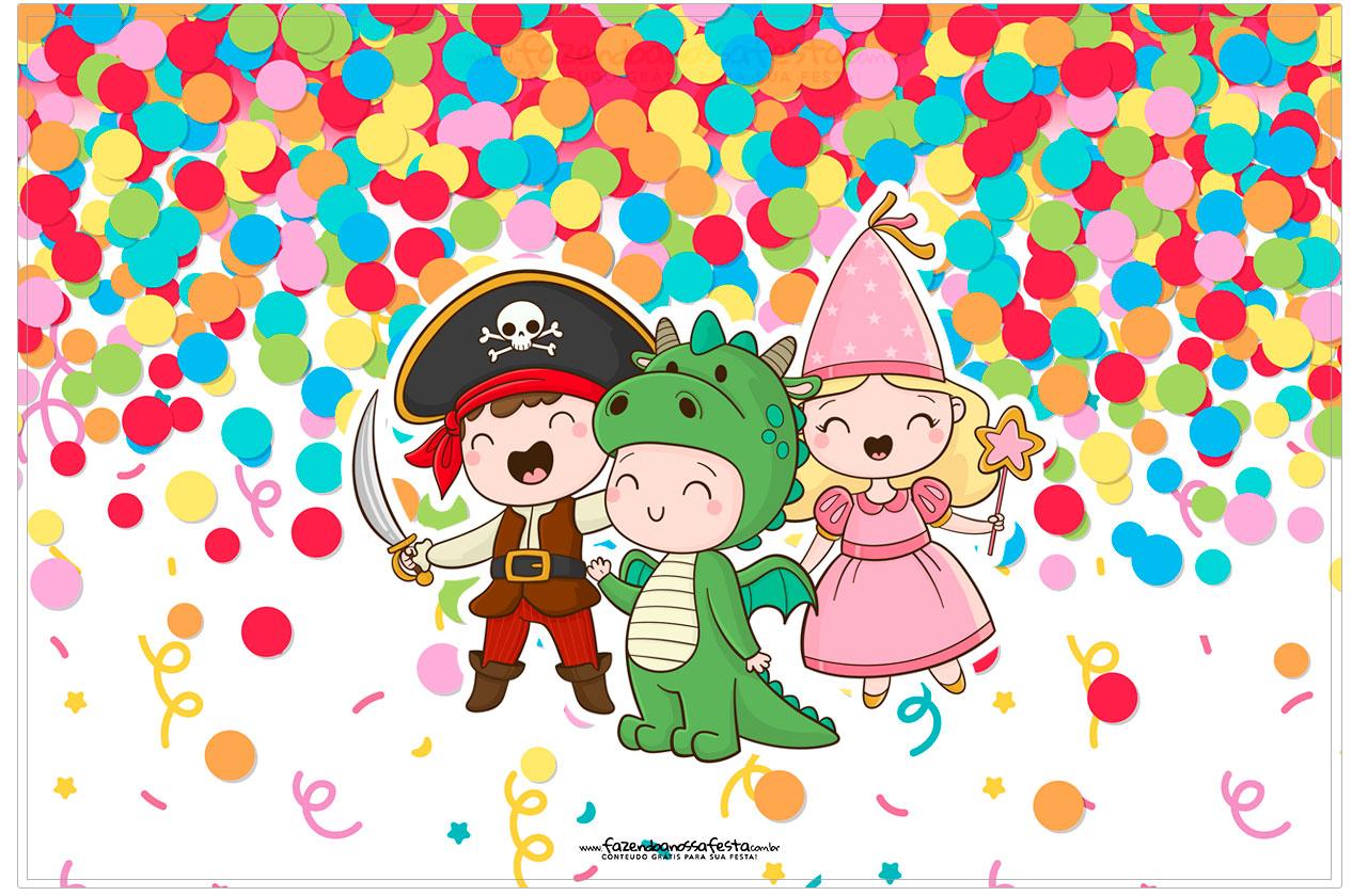 Cartao Festa Carnaval Infantil