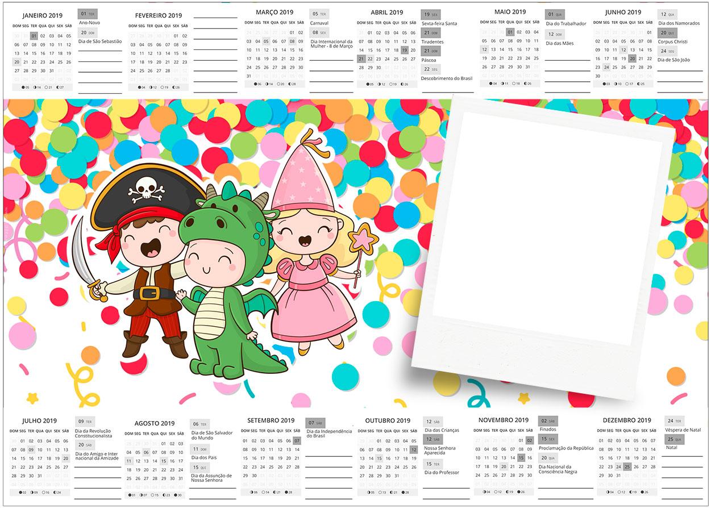 Convite Calendario 2017 Festa Carnaval Infantil