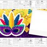 Convite Calendario 2019 Carnaval