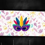 Convite Chalkboard de Carnaval