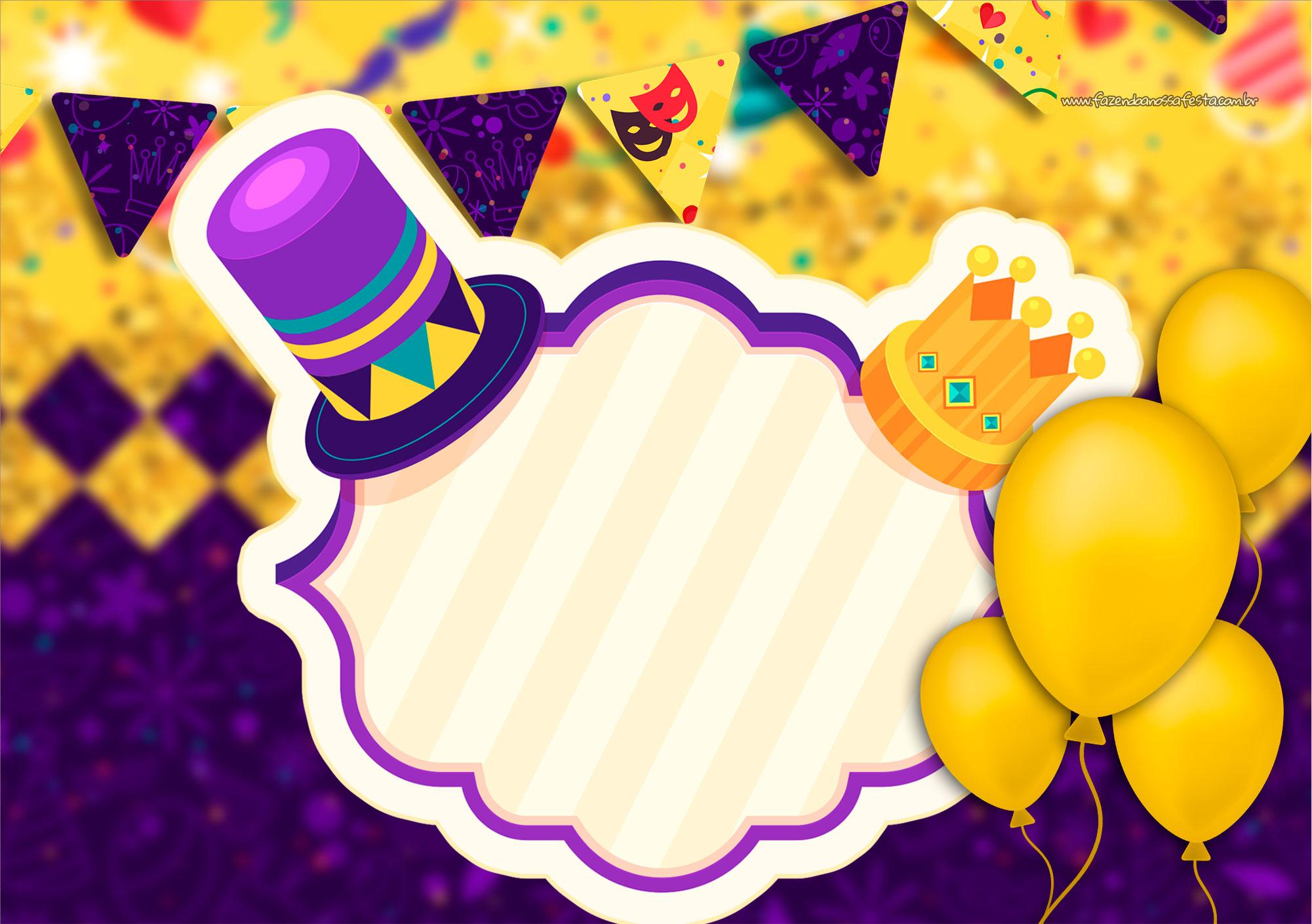 Convite Especial de Carnaval