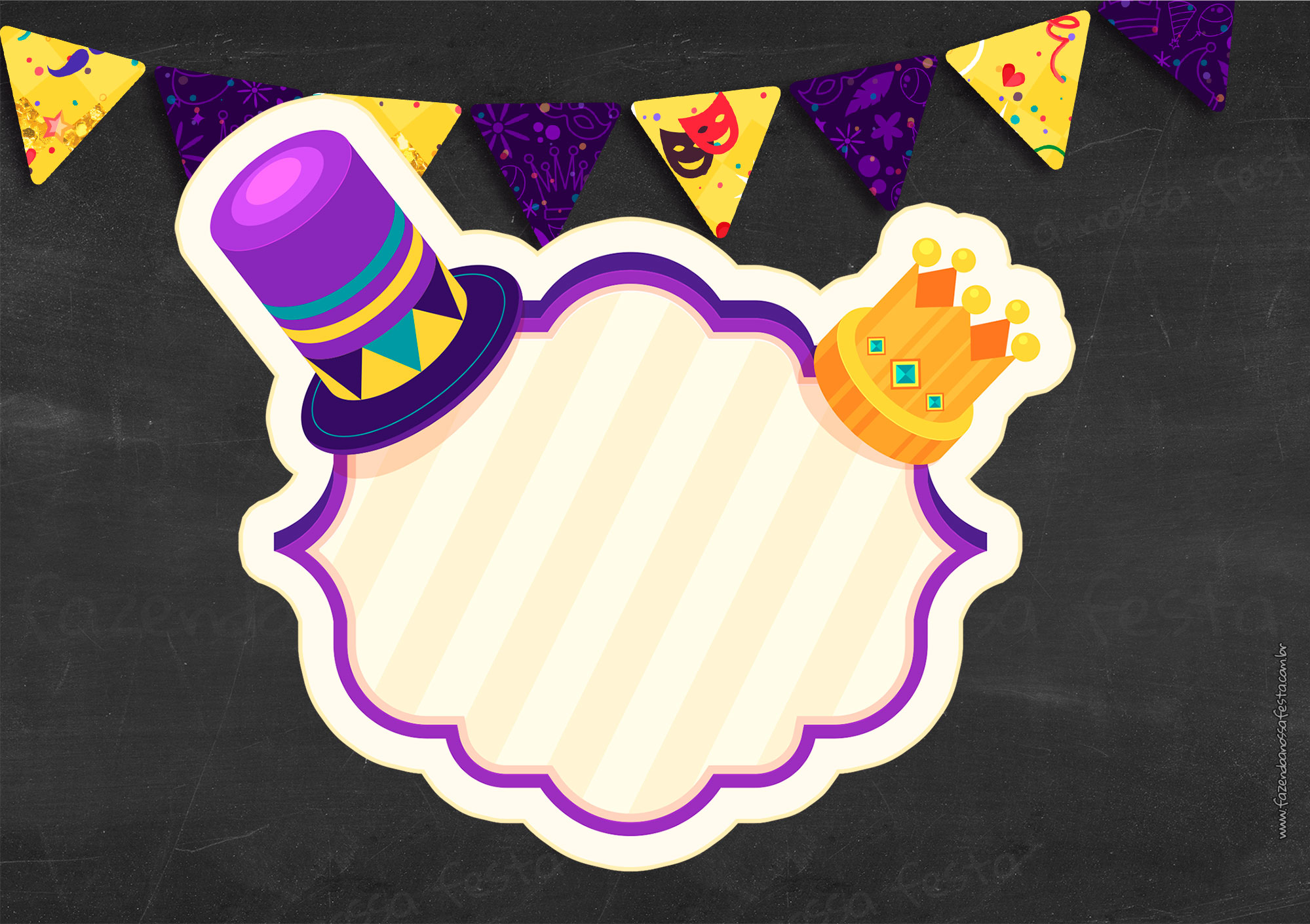 Convite Gratis para Festa de Carnaval
