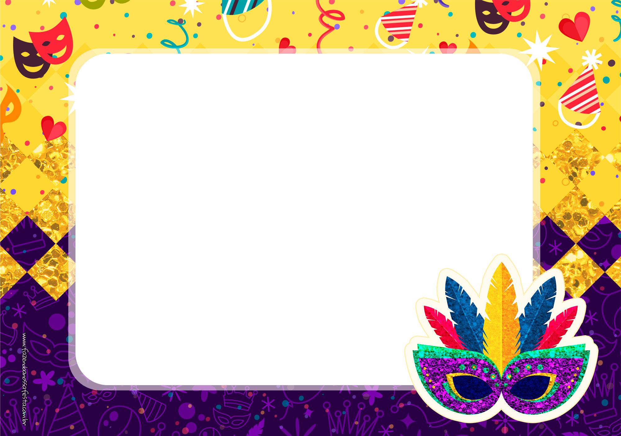 Convite com foto 2 de Carnaval