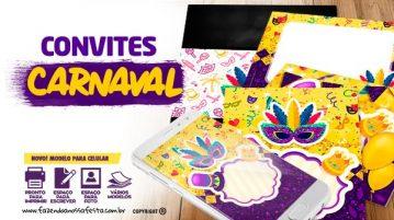 Convites para Festa de Carnaval