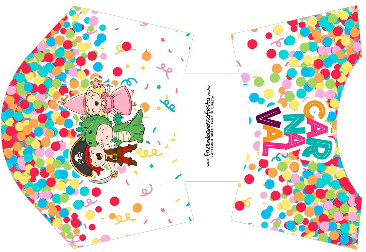 Envelope Fritas Festa Carnaval Infantil