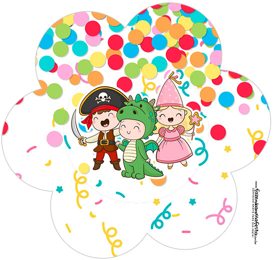 Flor Festa Carnaval Infantil