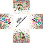 Forminha docinho quadrada Festa Carnaval Infantil