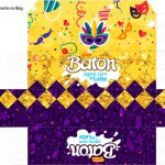Molde Caixa Baton Carnaval