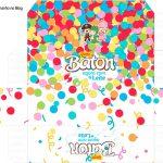 Molde Caixa Baton Festa Carnaval Infantil