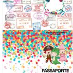 Molde Passaporte Festa Carnaval Infantil