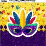 Molde Quadrado Carnaval