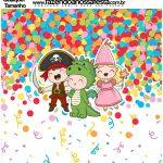 Molde Quadrado Festa Carnaval Infantil