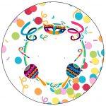 Molde para Latinha Festa Carnaval Infantil