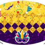 Placa Elipse Carnaval