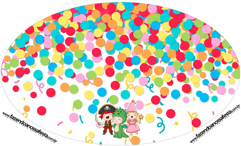 Placa Elipse Festa Carnaval Infantil