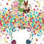 Plaquinha Dupla para Comida Festa Carnaval Infantil