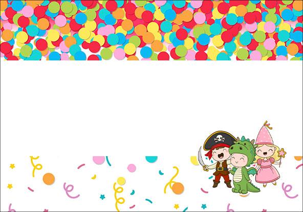 Plaquinha para Comida Festa Carnaval Infantil